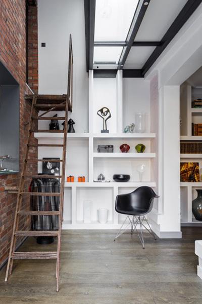 cuisine contemporaine dans un lieu de charme. Black Bedroom Furniture Sets. Home Design Ideas